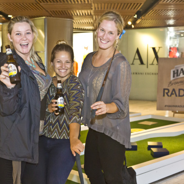 Hahn Radler launch event and putt-putt golf at Westfield Pitt Street, Sydney.  5th November, 2015.  Photo by Sarah Keayes The Photo Pitch www.thephotopitch.com