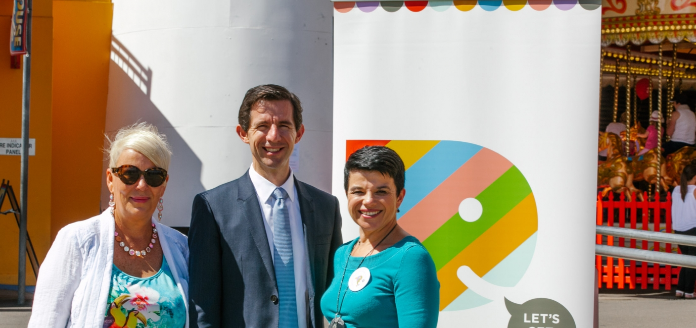 Federal Education Minister, Simon Birmingham, with Playgroup Australia at National Playgroup Week
