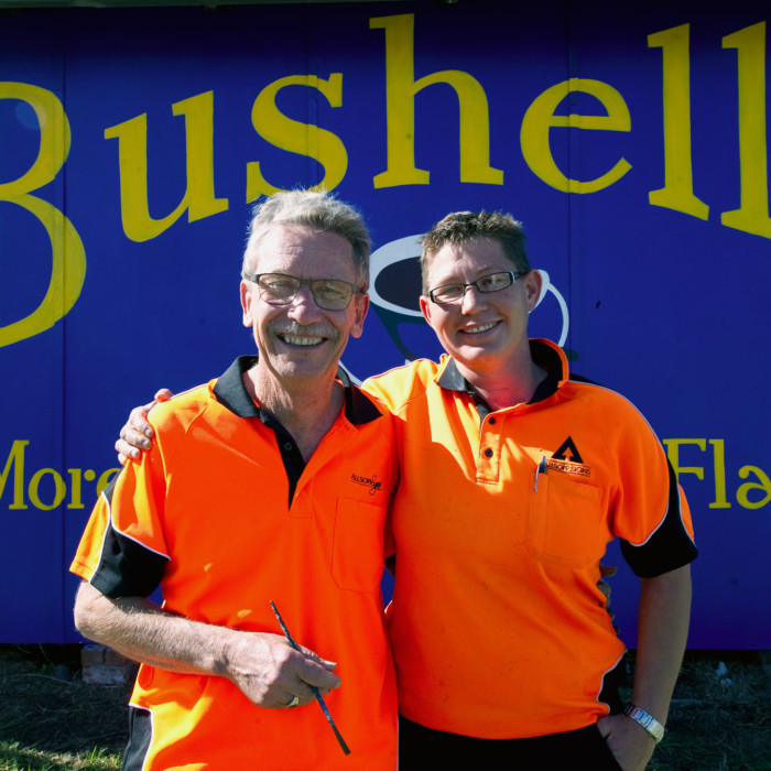 Bushells tea brings a community together with a restored sign in Moonbi, NSW, Australai